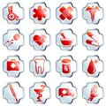 White glossy medical buttons Royalty Free Stock Image