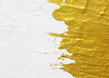 White and gold acrylic textured painting background Stock Photography