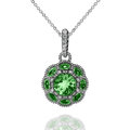 White Gold Pendant With Green ...