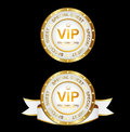 White Gold Vip Sign Royalty Free Stock Photography