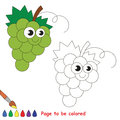White grapes cartoon. Page to be colored.