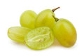 White grapes cut group on background Stock Image