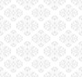White and gray seamless pattern with baroque ornaments Stock Photography