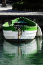 White and green boat Stock Photography