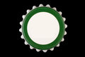 White green bottle cap isolated on white background with clipping path Stock Image