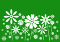 White on green flowers banner Royalty Free Stock Photo