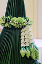White and green of Thai garland Royalty Free Stock Photos