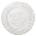 White Handmade Pottery Plate