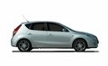 White hatchback side view Royalty Free Stock Photo