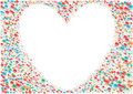 White_heart_background Stock Photos