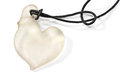 White heart pendant necklace on Royalty Free Stock Photo