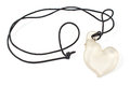 White heart pendant necklace isolated on Stock Photos
