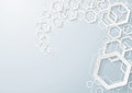 White hexagons dust on the grey background eps file Royalty Free Stock Image