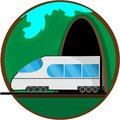 Travel by train. Vector illustration for your design