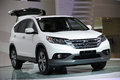 White Honda CRV Royalty Free Stock Photos