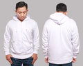 White Hoodie Mock up Royalty Free Stock Photo