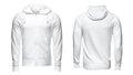 White hoodie, sweatshirt mockup, isolated on white background Royalty Free Stock Photo