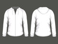White hoodie templates Royalty Free Stock Photos