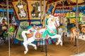 White Horse on Carousel Royalty Free Stock Photo