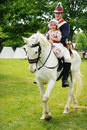 White Horse, Soldier, Girl Royalty Free Stock Photo