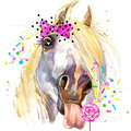 White Horse  T-shirt Graphics....