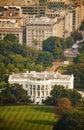 The White House aerial view in Washington, DC Royalty Free Stock Photo