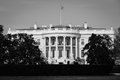 The white house in black and white washington dc united states a cloudy day Royalty Free Stock Images