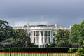 White House building in Washington DC on cloudy day Royalty Free Stock Photo