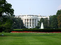 White House on deep blue sky background Royalty Free Stock Photo