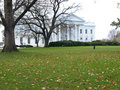 White house in fall Royalty Free Stock Photos