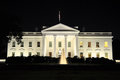 The White House illuminated at night, Washington D.C., USA Royalty Free Stock Photo