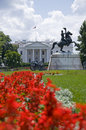 White House from Lafayette Park Royalty Free Stock Image