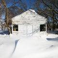 White house in snow. Royalty Free Stock Photo