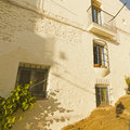 White house typical of the mediterranean costa brava catalonia spain Royalty Free Stock Image