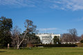 The White House in Washington DC on Sunny Winter Day Royalty Free Stock Photo