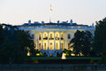 The white house washington dc united states at night Stock Photography