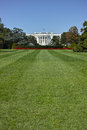 The white house wide angle view of with room on lawn for copy space Stock Photo