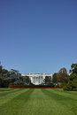 The white house wide angle view of with room in sky for copy space Stock Photo