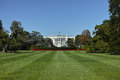 The white house wide angle view of in washington dc Royalty Free Stock Photo