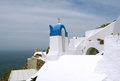 White houses and blue sky on santorini top Royalty Free Stock Images