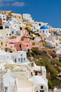 White houses of Oia Royalty Free Stock Photos