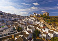 White houses in setenil de las bodegas small town spain Royalty Free Stock Image