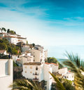 White houses in Spanish village Royalty Free Stock Photo