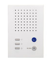 White intercom system isolated Royalty Free Stock Photo