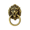 White isolated lion head as a knocker