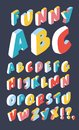 White isometric 3d font, Three-dimensional alphabet. Royalty Free Stock Photo