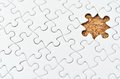 White jigsaw puzzle. Royalty Free Stock Photo