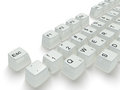 White key in a keyboard Stock Photography