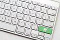White Keyboard Checkout Royalty Free Stock Photo
