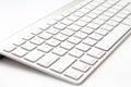 White keyboard computer closeup wireless Stock Photos